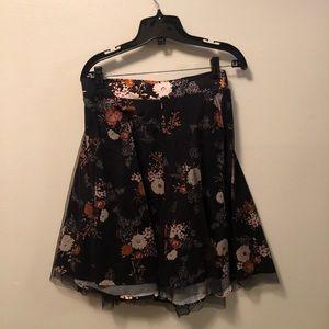 Torrid floral circle/skater skirt